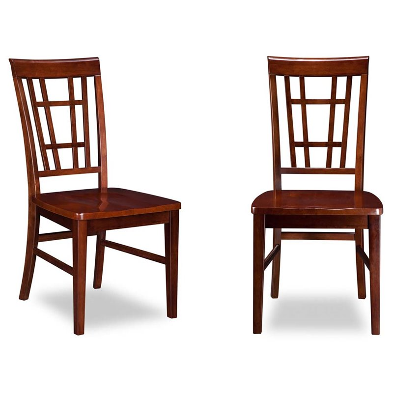 Atlantic Furniture Montego Bay Dining Chairs in Walnut (Set of 2)