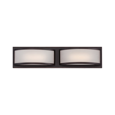 Georgetown 2 Light - Wall Sconces 2 Light Fixtures With Georgetown Bronze Finish Iron Material Rectangular LED Bulb 21