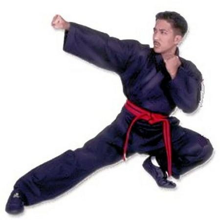 Martial Arts Karate Jacket - Middle Weight Black Poly/Cotton Martial Arts Karate Uniform