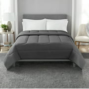 Mainstays Jersey Knit Comforter, Full/Queen, Charcoal