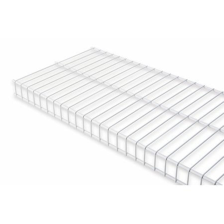 "Rubbermaid 3E0000Wht 3' x 12"" White Linen Shelf Kit"