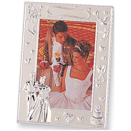 Designer Photo (Silver-Plated 4X6 Wedding Photo Frame Designer Jewelry by Sweet Pea )