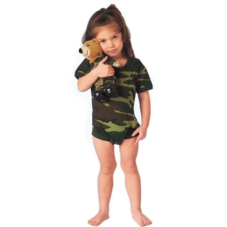 Woodland Camo Baby Boy or Girl One-Piece Bodysuit, Snap-Suit