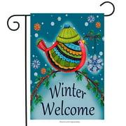 "Winter Welcome Bird Garden Flag Decorative Winter by Briarwood Lane 12.5"" x 18"""