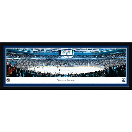 Vancouver Canucks - Center Ice at Rogers Arena - Blakeway Panoramas NHL Print with Select Frame and Single Mat (Vancouver Canucks Memorabilia)