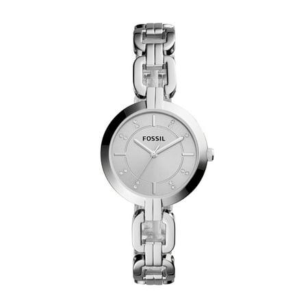 Date Silver Tone Pocket Watch - Women's Kerrigan Silver Tone Stainless Steel Watch (Style: BQ3205)