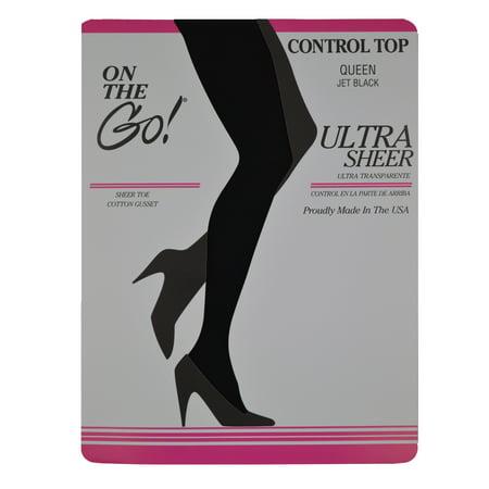 9529278bf204a ON THE GO - Hosiery Ultra Sheer Hosiery Queen - Walmart.com