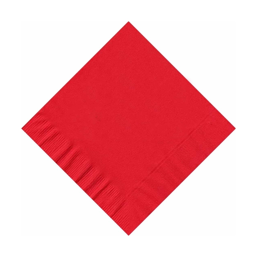 200 (4 Pks of 50) 2 Ply Plain Solid Colors Beverage Cocktail Napkins Paper Red by CREATIVE CONVERTING