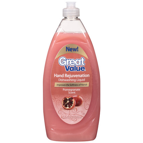Great Value Pomegranate Scent Dishwashing Liquid, 24 oz