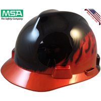 MSA Cap Style Flame Design Hard Hats - Staz On Suspension