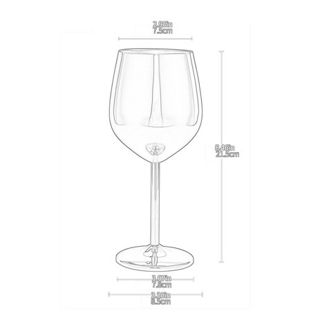 Stainless Steel Red Wine Glass Copper Plated Single Layer Goblet Kitchen Tools - image 3 of 10