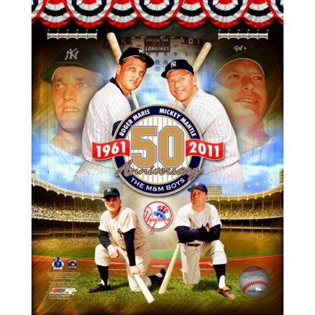 Issue Mickey Mantle - Roger Maris & Mickey Mantle 50th Annivesary Portrait Plus Photo Print