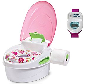 Summer Infant Step-By-Step Potty with Potty Watch Training Aid, Girl