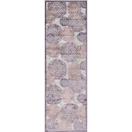 Country Floral Glencoe Collection Area Rug in Multiple Color and Rectangle, Runner - Glenmore Collection