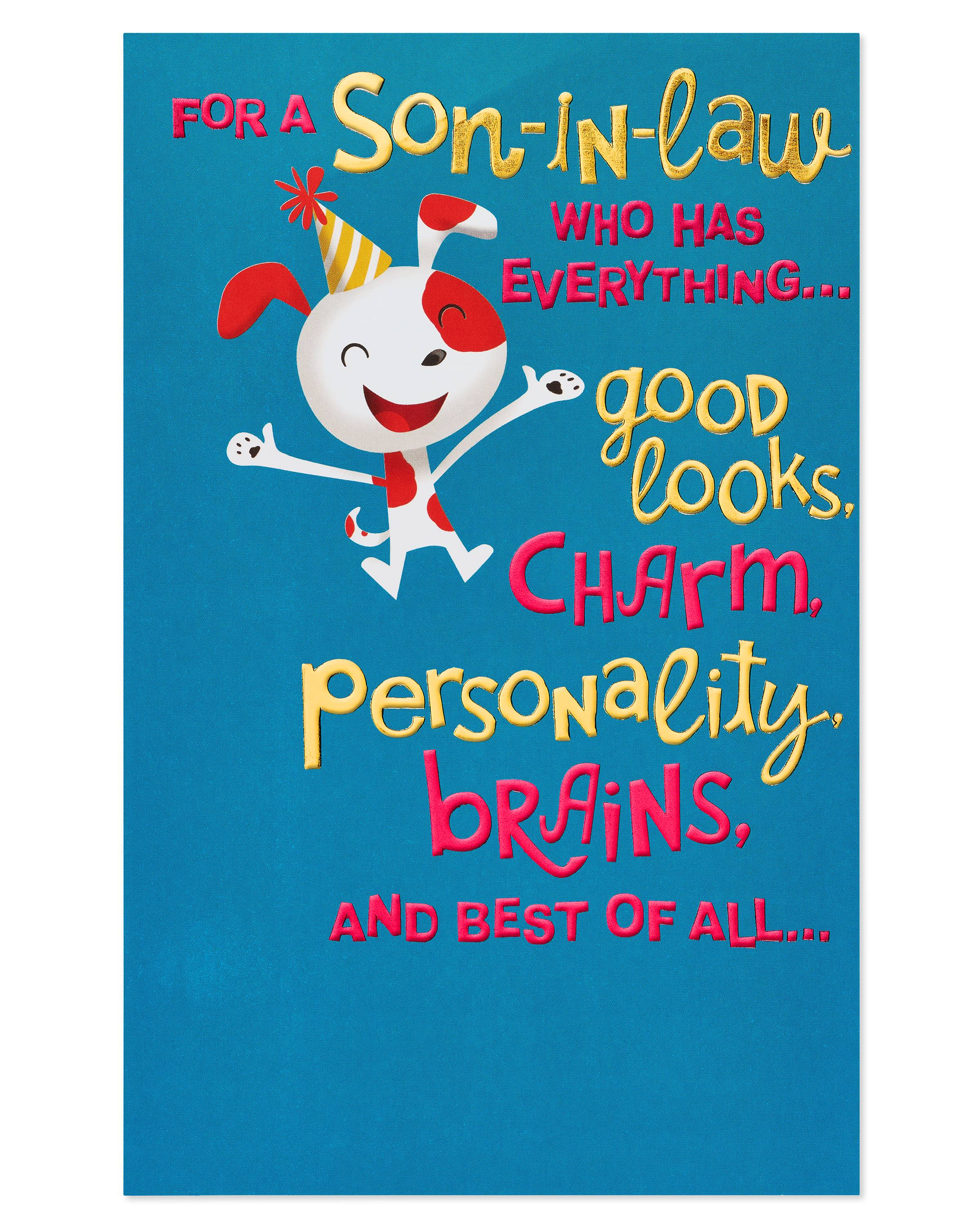 American Greetings Funny Birthday Card For Son In Law With Foil Walmart Com Walmart Com