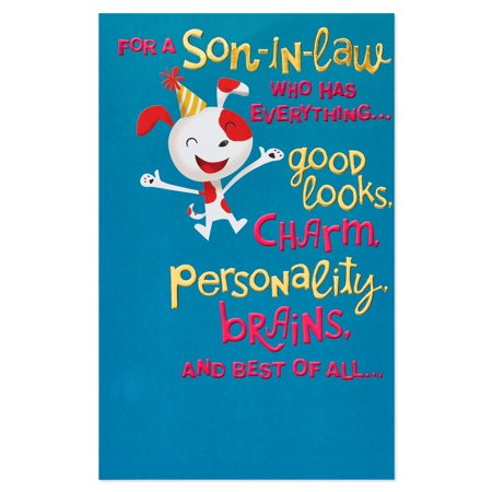 American Greetings Funny Birthday Card For Son In Law With Foil