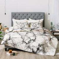 Chelsea Victoria Marble No 3 Comforter by Deny Designs
