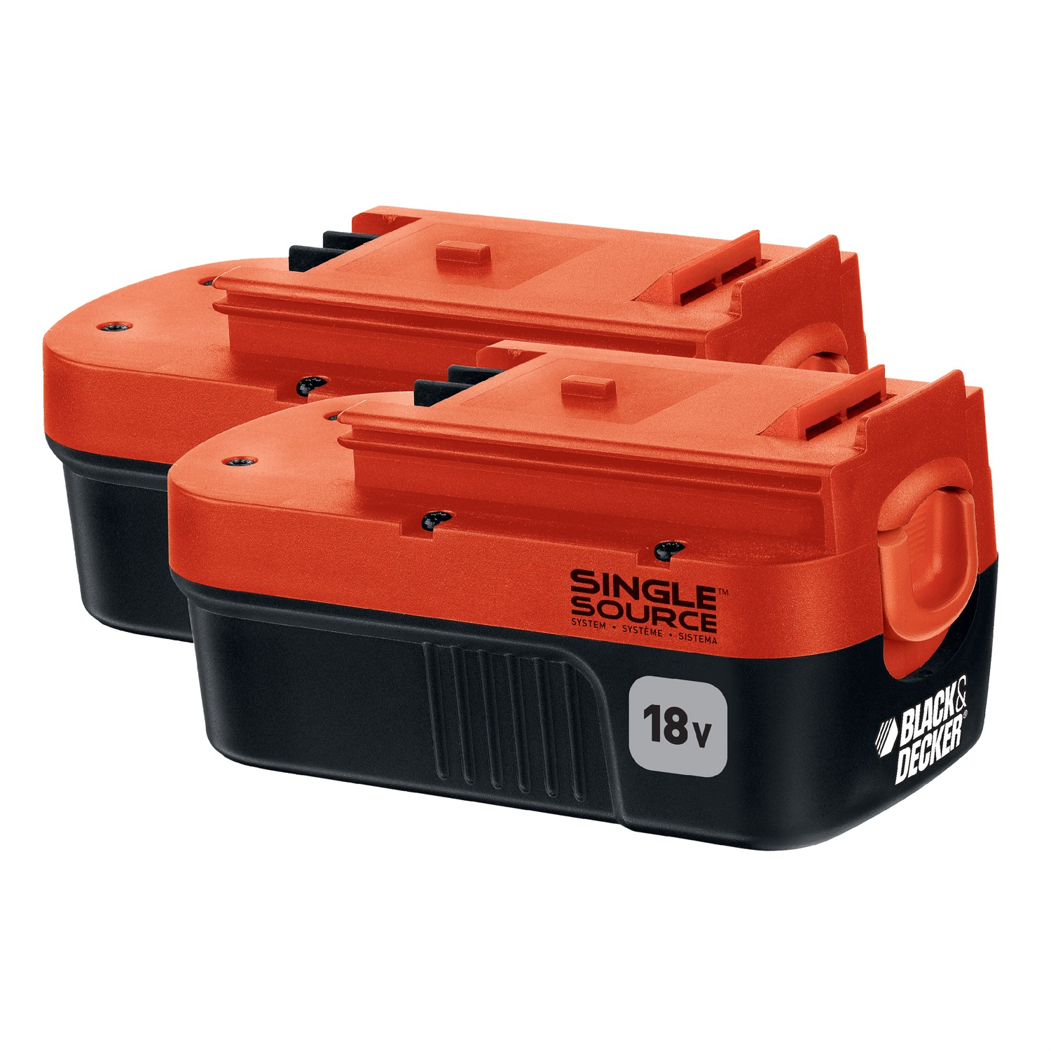 BLACK+DECKER HPB18-OPE2 18V NiCad Slide Battery Battery, 2-Pack
