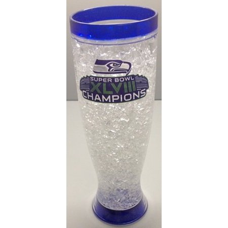 Nfl Seattle Seahawks Ice Pilsner Glass Super Bowl Champions Xlviii
