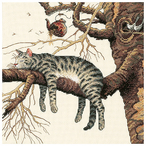 "Dimensions ""Too Pooped"" Counted Cross Stitch Kit, 11"" x 11"""