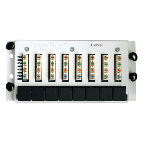 Channel Vision 8x8 Cat6 Data Patch Panel (C-0538)