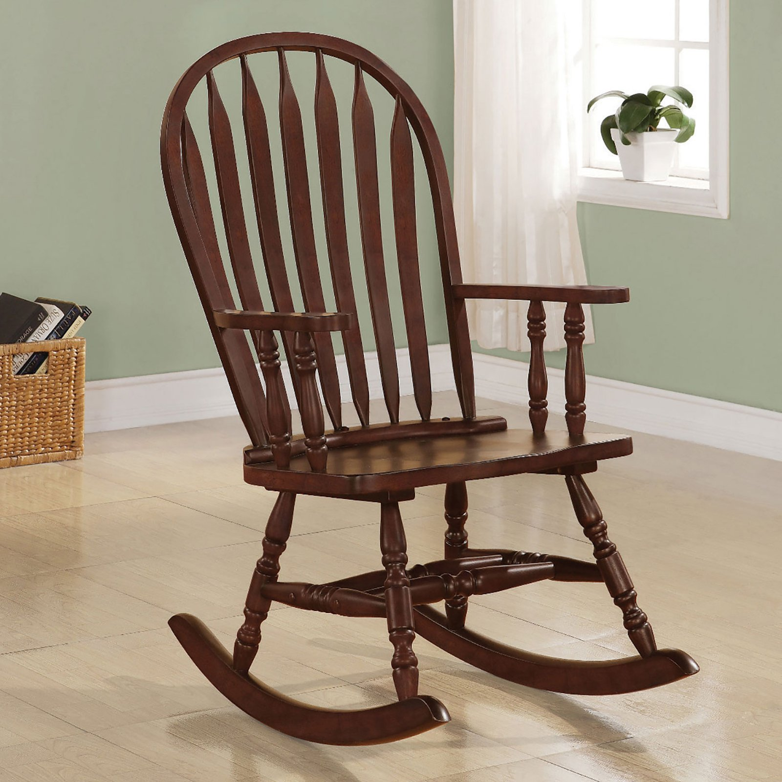 Arrow Windsor Back Rocking Chair, Cappuccino by Monarch Specialties Inc