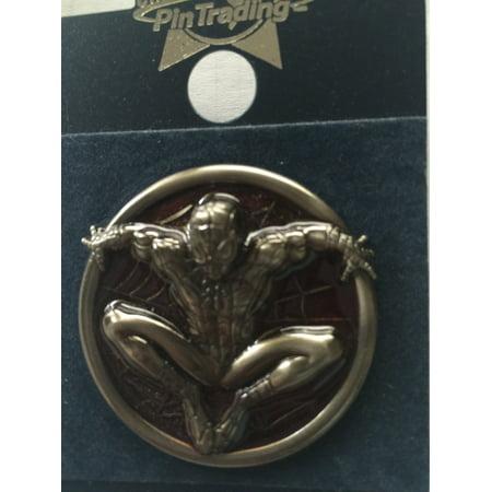 Universal Studios Pin Trading Spiderman Red Metal Pin New with Card - Universal Studios Spiderman