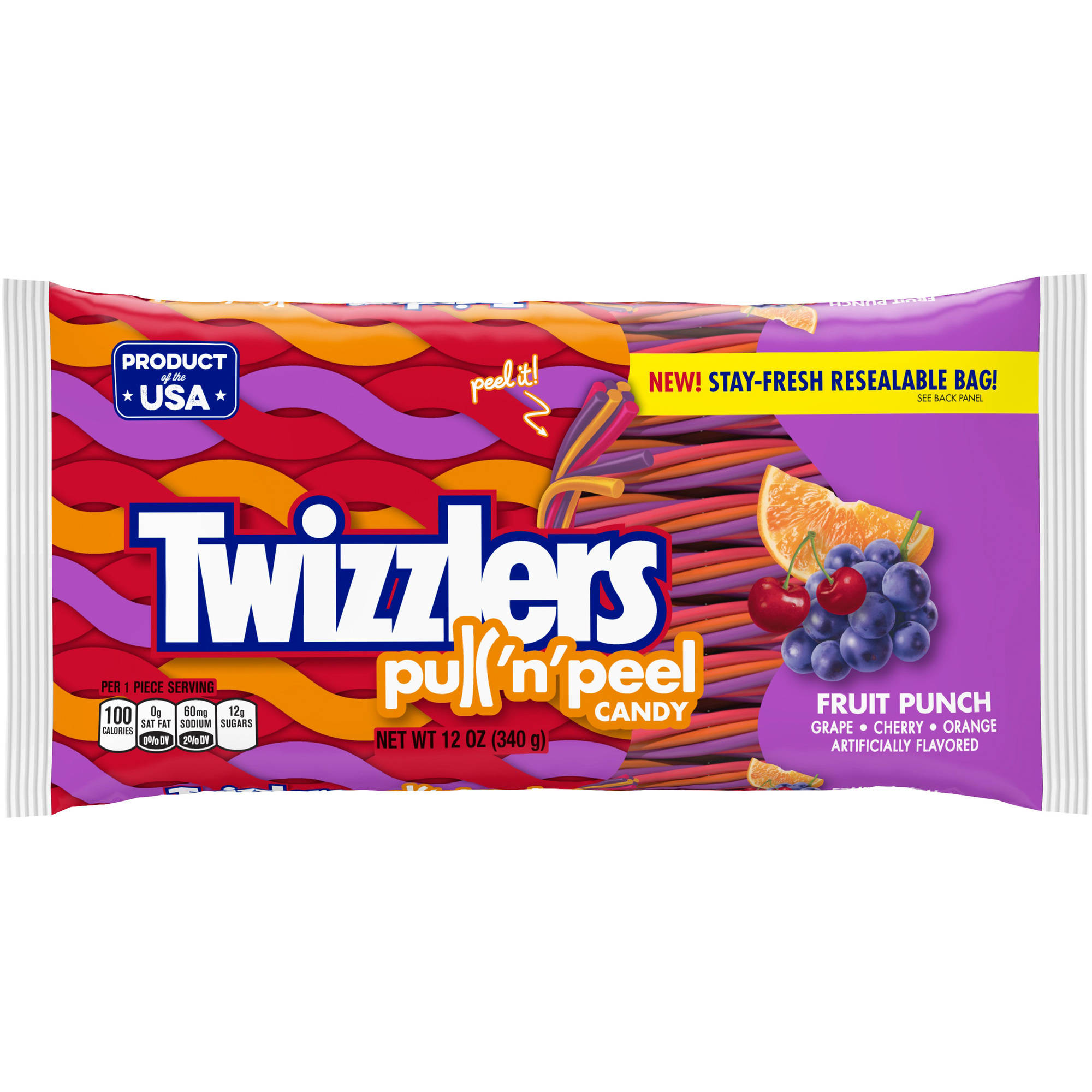 Twizzlers Pull 'n' Peel Fruit Punch Candy, 12 oz