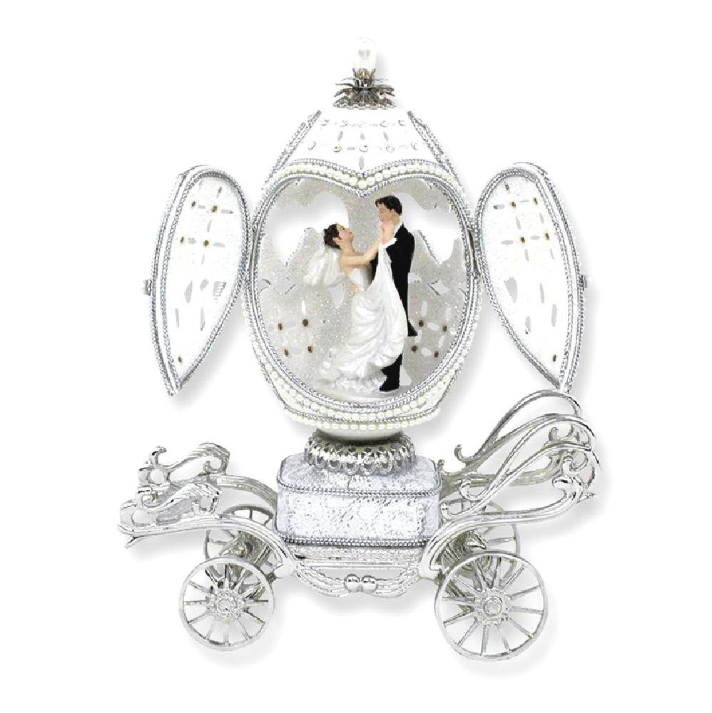 ICE CARATS Bride Groom Musical Goose Egg Figurine Fashion Jewelry Ideal Gifts For Women Gift Set From Heart