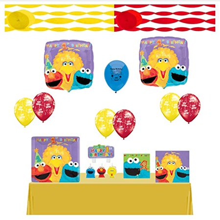 Sesame Street Party Supplies Birthday First And Balloon Kit Complete Ready For