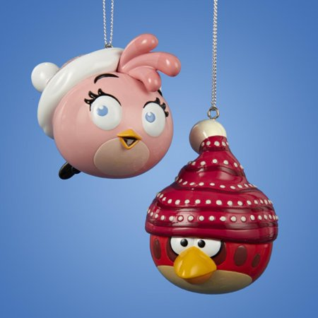 Club Pack of 24 Angry Birds Red and Pink Bird Christmas Ornaments - Club Pack Of 24 Angry Birds Red And Pink Bird Christmas Ornaments