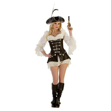 Rogue Pirate with Dress Adult Costume - (Men's Rogue Pirate Costumes)