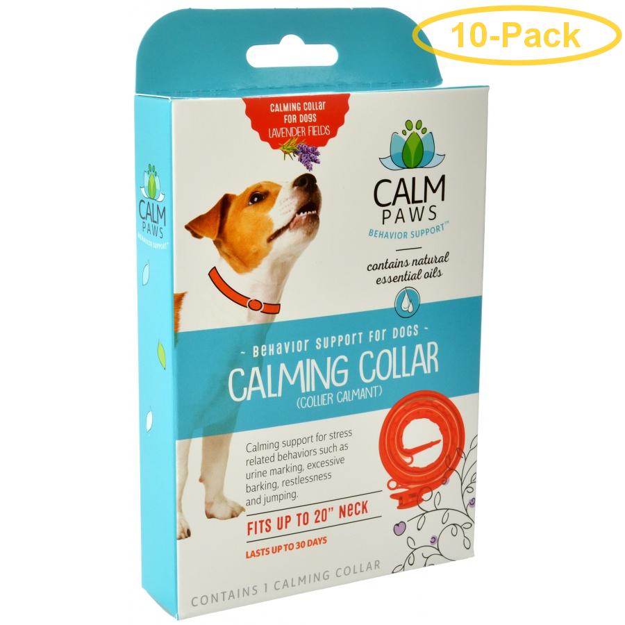 Calm Paws Calming Collar for Dogs 1 Count - Pack of 10