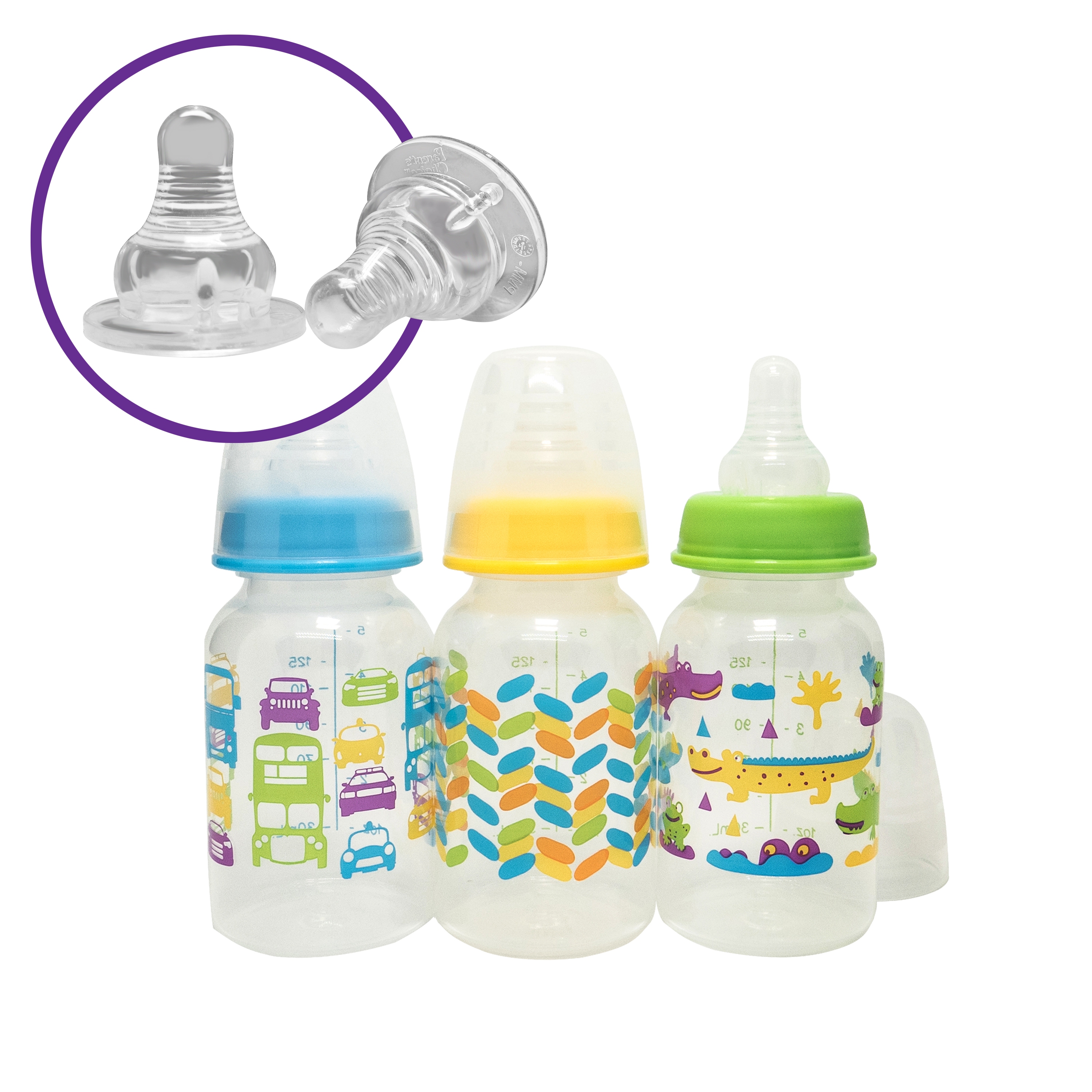 Parent's Choice BPA Free Bottles, 5 oz, 3 ct