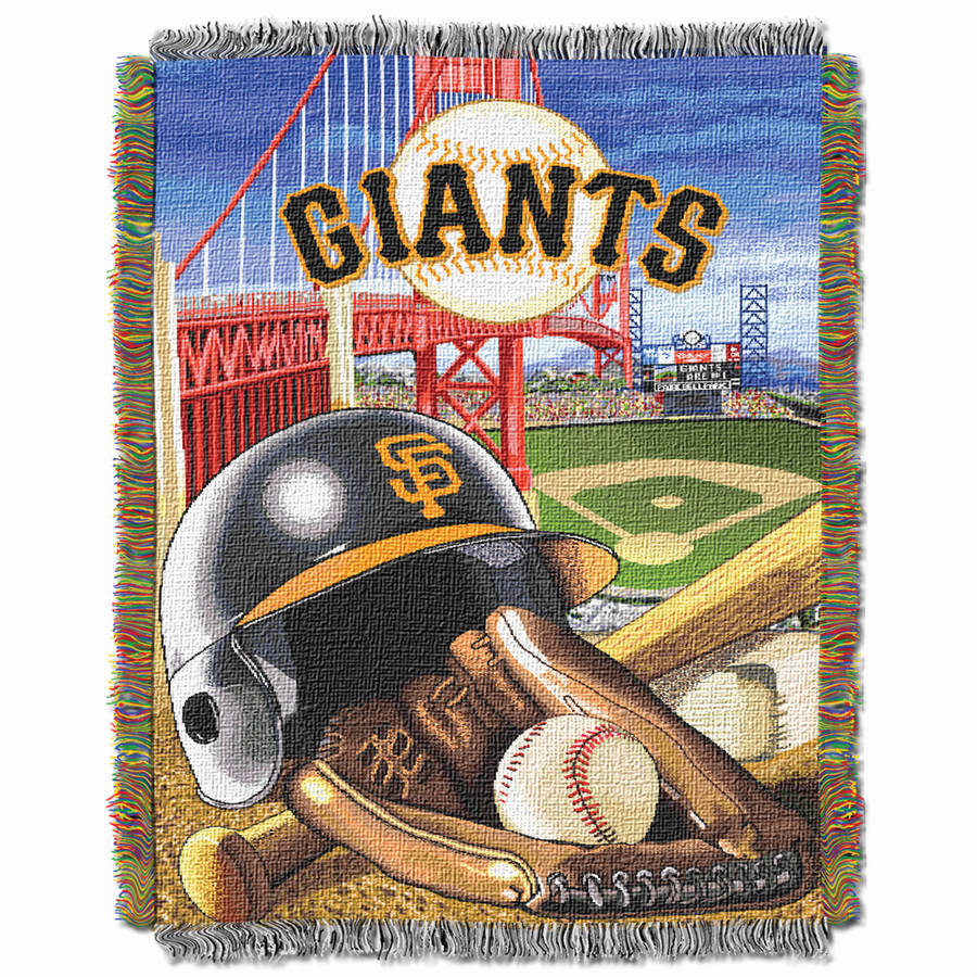 "MLB 48"" x 60"" Home Field Advantage Series Tapestry Throw, Giants"