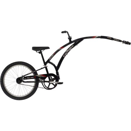 Adams Trail A Bike Folder One Child Trailer: Black