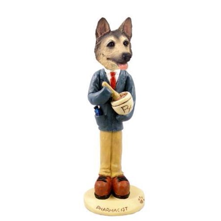 German Shepherd Tan/Black Pharmacist Doogie Collectable Figurine ()