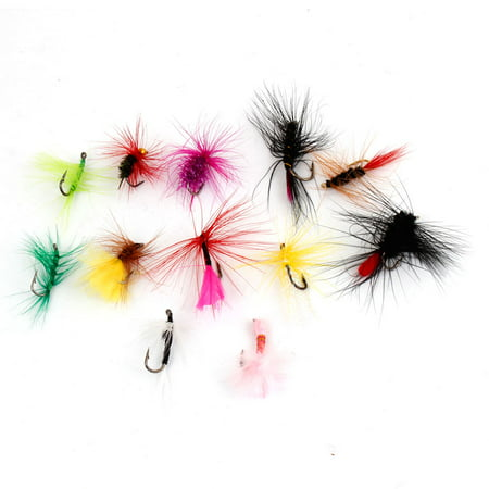 12 Pcs Fishing Assorted Color Mayfly Trout Mayfly Flies Metal