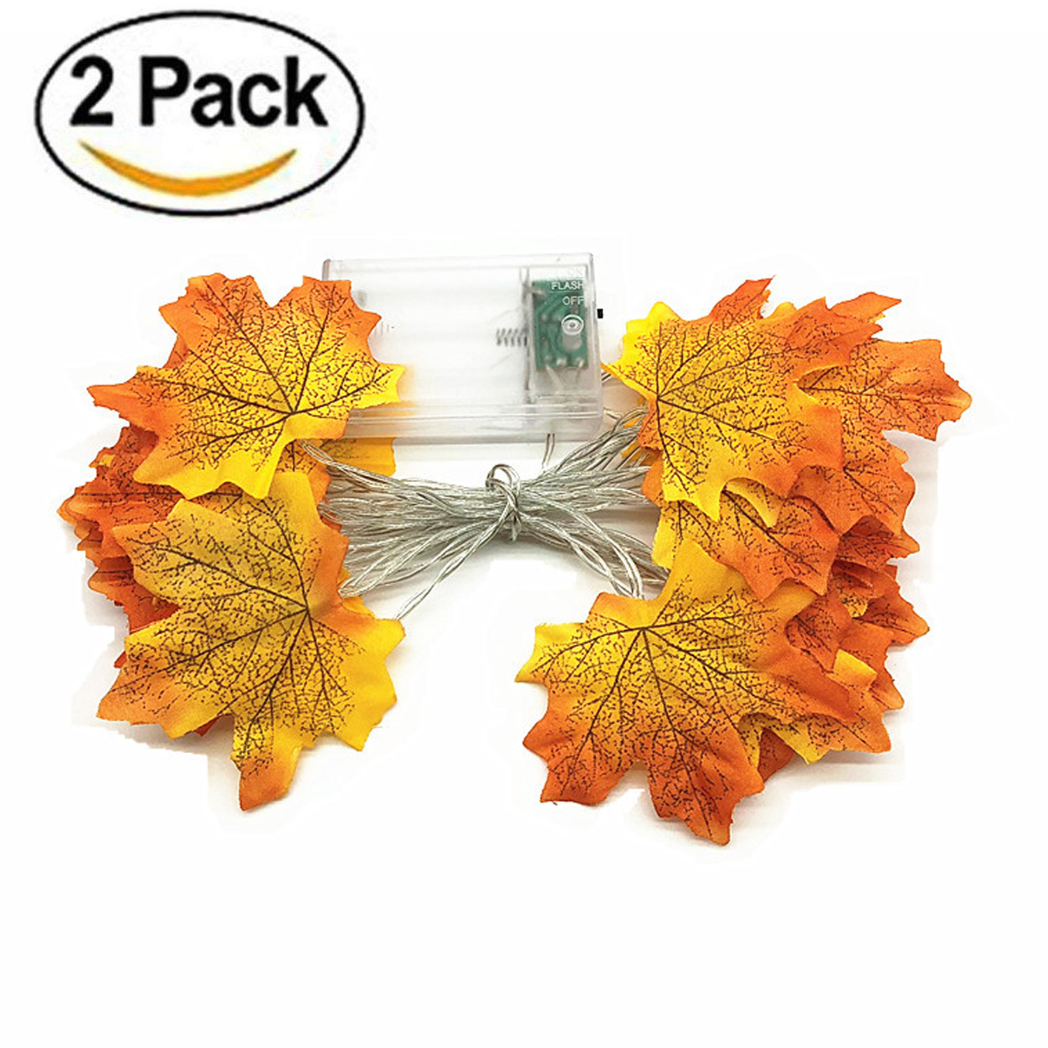 Thanksgiving Decorations Lighted Fall Garland Thanksgiving Decor Halloween String Lights 13 2 Feet 40 Led Thanksgiving Gift Walmart Com Walmart Com
