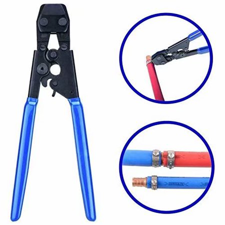 Clearance!PEX Pipe Cinch Crimping Tool with Clamp Blue ()