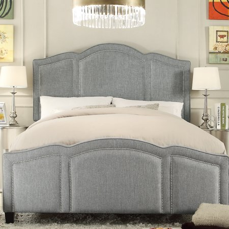 Alton Furniture Novella Queen Upholstered Panel Bed, Gray