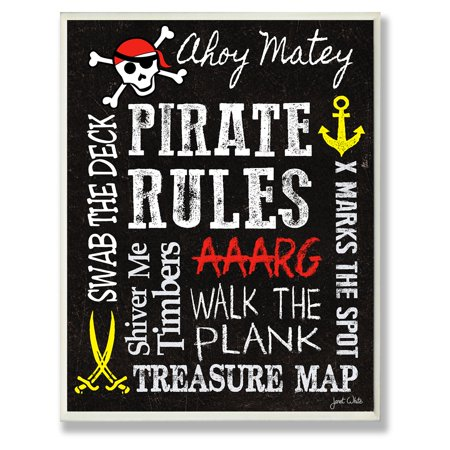 The Stupell Home Decor Collection Pirate Rules Wall Plaque](Pirate Decor)