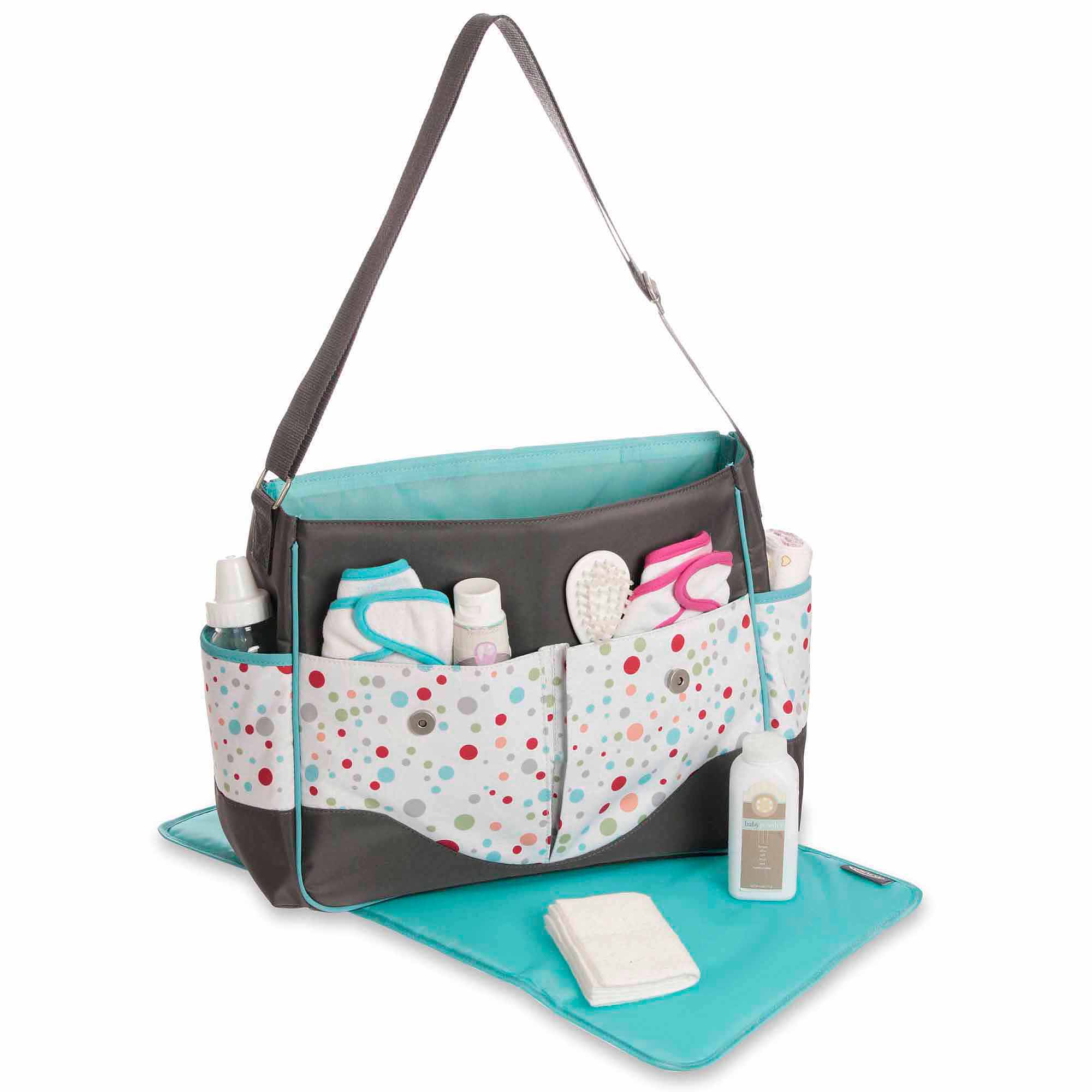 Graco Tinker Messenger Diaper Bag, Gray