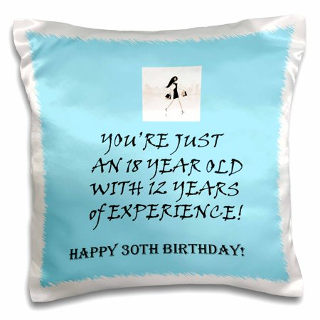 3dRose Happy 30th birthday. blue. funny quote. saying. - Pillow Case, 16 by 16-inch - Funny Happy Halloween Sayings