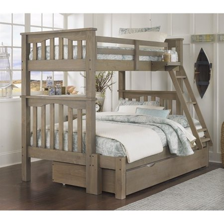 Rosebery Kids Twin over Full Bunk Bed with Trundle in Driftwood - image 2 de 2