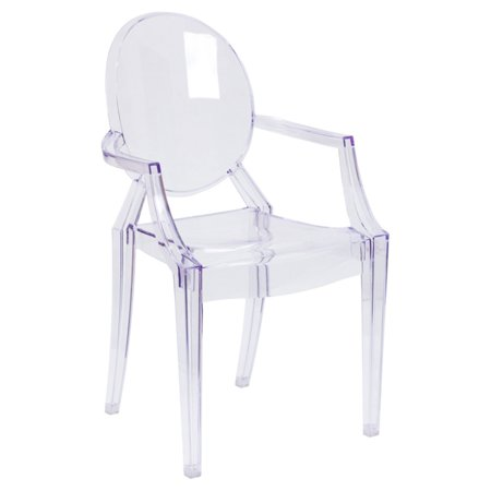 Flash Furniture Transparent Crystal Ghost Chair with Arms