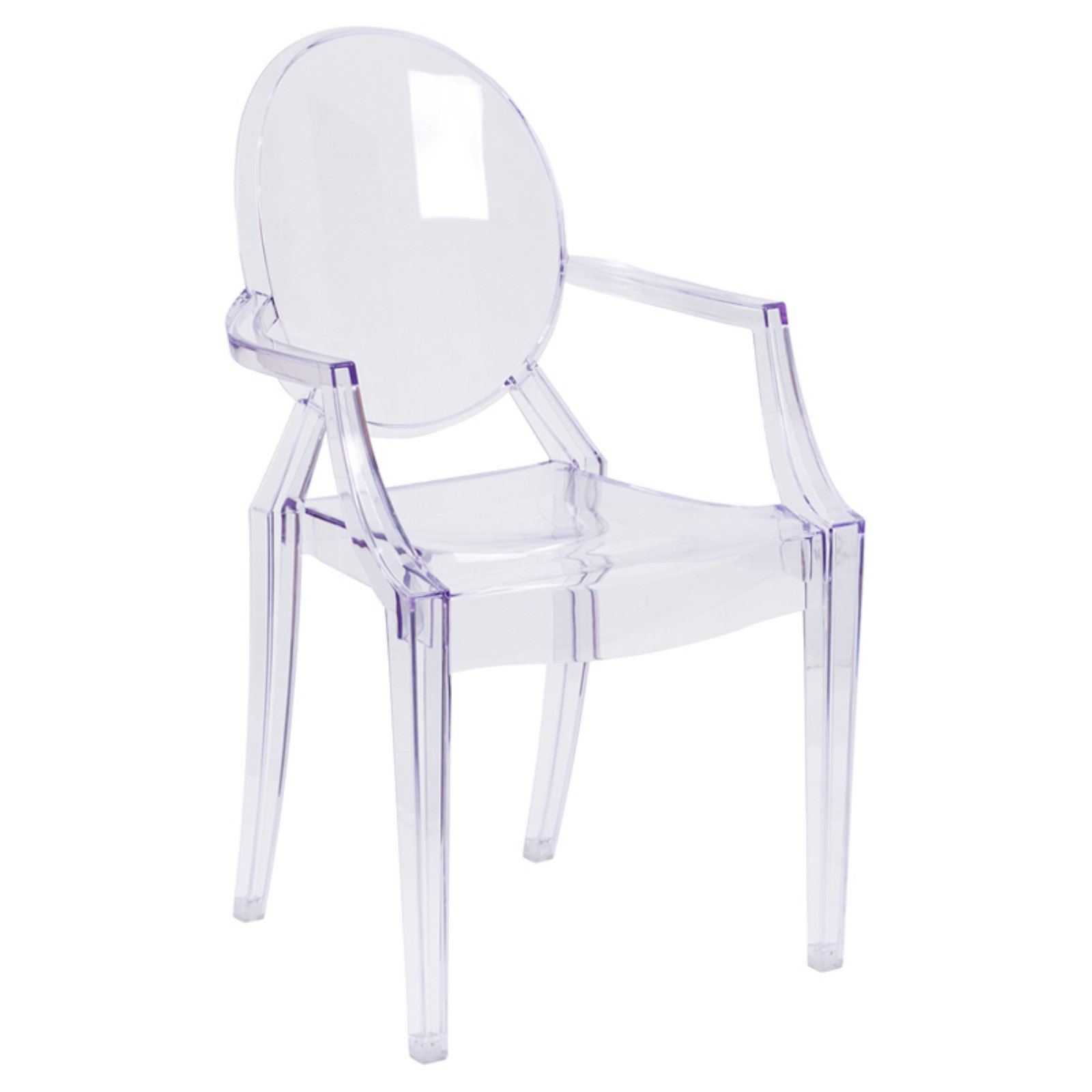 Product Image Flash Furniture Transparent Crystal Ghost Chair With Arms