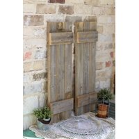 Natural Farmhouse Shutters | set of 2