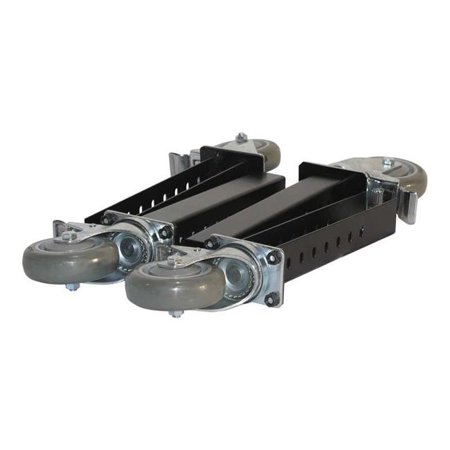 TLC-4-HDQS Four Total Lock Plate Casters, Locks Both Swivel & Brake with Leg Extenders Total Lock Swivel Plate