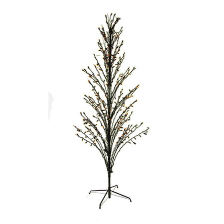 6' Purple LED Lighted Halloween Cascade Twig Tree Outdoor Yard Art Decoration - Easy Halloween Yard Decorations+homemade